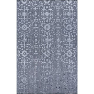 Hand-Knotted Wave Viscose Area Rug - 9' x 13'