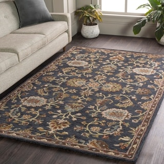 Hand-Tufted Yate Floral Wool Rug - 9' x 13'