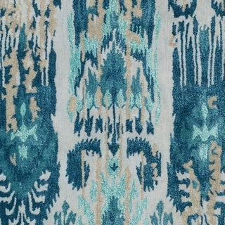 Porch & Den Anzalone Blue Handmade Wool Area Rug - 8' x 11'
