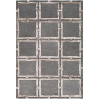 Naiara Charcoal Modern Wool & Viscose Area Rug - 8' x 10'