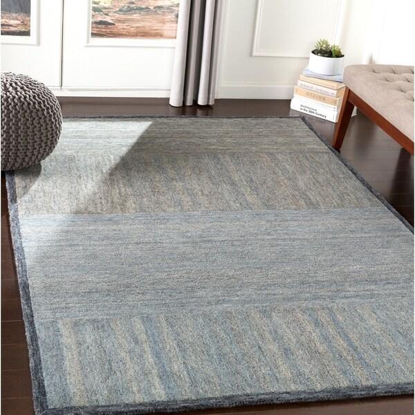 Isocrates Handmade Modern Wool Area Rug - 8' x 10'