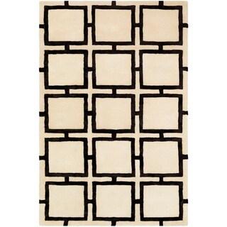 Naiara Cream Modern Wool & Viscose Area Rug - 8' x 10'
