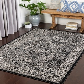 "Nélida Medium Grey Traditional Area Rug - 7'10"" x 10'3"""
