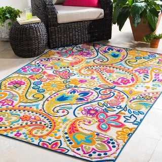 "Arleen Paisley Indoor/ Outdoor Area Rug - 7'10"" x 10'3"""