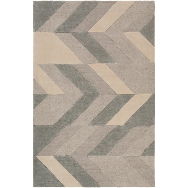 "Hand-Tufted Ancren Wool Area Rug - 3'3"" x 5'3"""