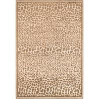 "Auvergne Viscose/Chenille Animal Print Area Rug - 4' x 5'7"""