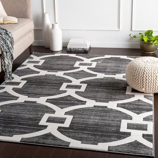 "Licia Grey Classic Links Area Rug - 7'10"" x 10'3"""