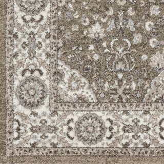 "Percival Grey Traditional Area Rug - 7'10"" x 10'3"""