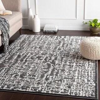 "Adanna Grey Modern Abstract Area Rug - 7'10"" x 10'3"""