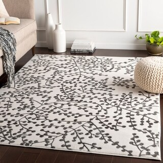 """Arieh White & Grey Branches Area Rug - 7'10"""" x 10'3"""""""