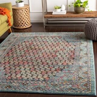 "Lauchlan Blue Vibrant Vintage Area Rug - 7'10"" x 10'6"""