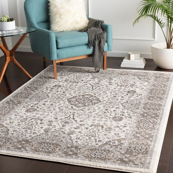 "Percival Taupe Traditional Area Rug - 7'10"" x 10'3"""