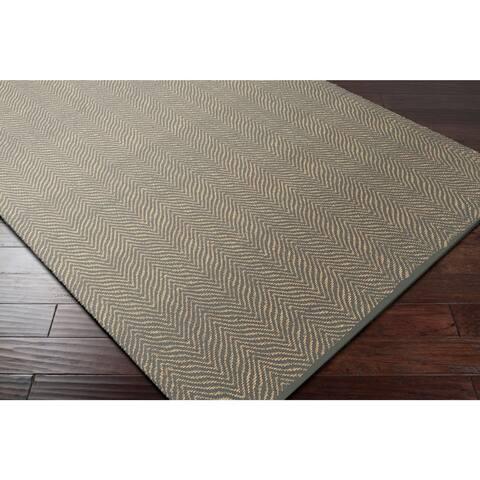 Hand-Woven Kaneen PET Yarn Indoor/ Outdoor Accent Rug - 2' x 3'
