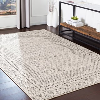 "The Curated Nomad Tiffany Grey Bohemian Border Area Rug - 7'10"" x 10'3"""
