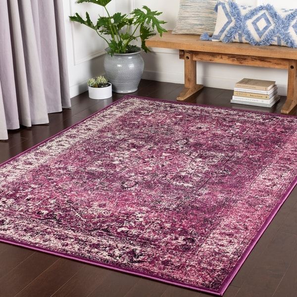 Nélida Purple Traditional Accent Rug - 2' x 3'