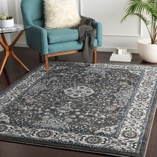Percival Blue & Grey Traditional Accent Rug - 2' x 3'