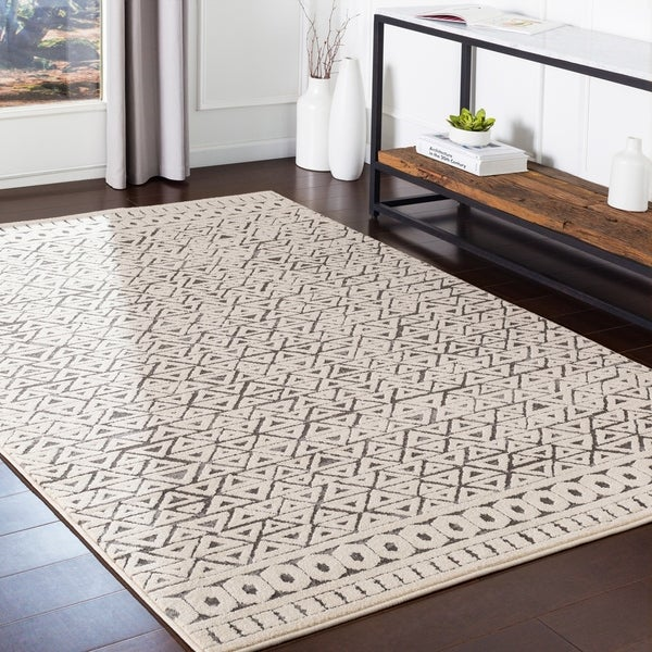 Shop Maisel Grey Geometric Bohemian Area Rug 7 10 Quot X 10