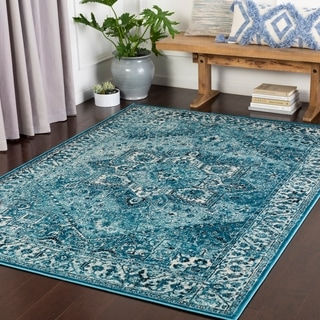 Farhana Aqua Traditional Accent Rug - 2' x 3'