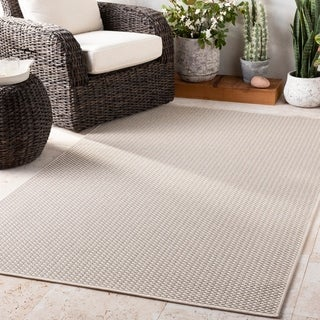 Bhaskar Ivory Casual Indoor / Outdoor Accent Rug - 2' x 3'