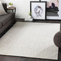 Errol Beige Transitional Abstract Accent Rug - 2' x 3'