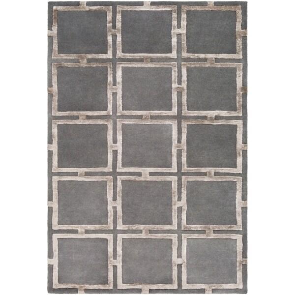 Naiara Charcoal Modern Wool & Viscose Accent Rug - 2' x 3'