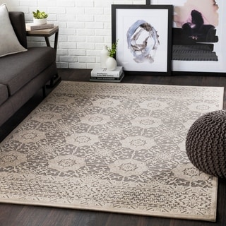 Tamerlane Beige Chenille Traditional Accent Rug - 2' x 3'