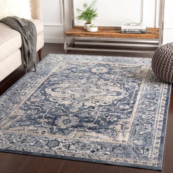 Porch & Den Angie Grey Traditional Area Rug - 9' x 12'