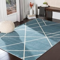 """Sybella Blue Modern Area Rug - 7'10"""" x 10'3"""""""