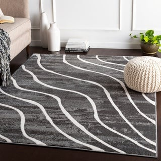 Liliane Charcoal Transitional Accent Rug - 2' x 3'