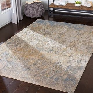 Lochana Blue Modern Accent Rug - 2' x 3'