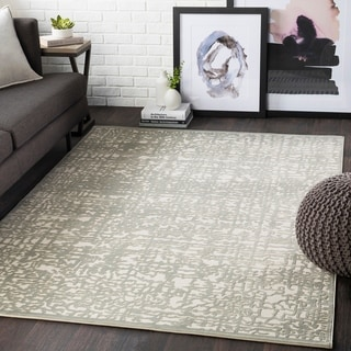Errol Sage Transitional Abstract Accent Rug - 2' x 3'