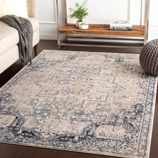 Atallah Taupe Vintage Traditional Accent Rug - 2' x 3'