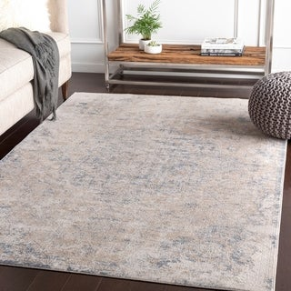 Valeri Taupe Distressed Traditional Area Rug - 9' x 12'