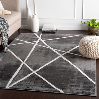 Hylah Grey Modern Star Accent Rug - 2' x 3'