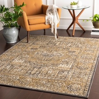 Jóhannes Tan Traditional Accent Rug - 2' x 3'