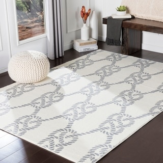 "Jessamine Cream Nautical Rope Area Rug - 7'10"" x 10'3"""