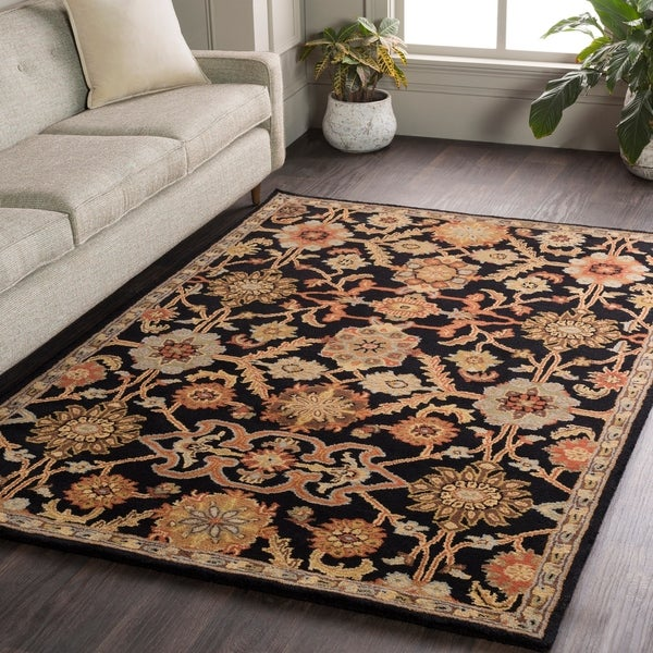 "Hand-Tufted Acton Floral Wool Rug - 2'3"" x 10' Runner"