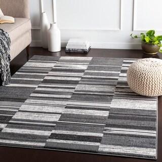 Delora Grey Contemporary Stripes Accent Rug - 2' x 3'