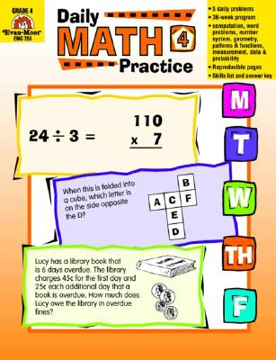 Daily Math Practice, Grade 4 (Paperback)