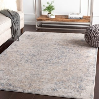 Valeri Taupe Distressed Traditional Accent Rug - 2' x 3'