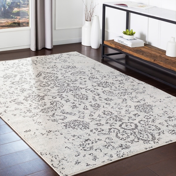 Estève Taupe Distressed Traditional Accent Rug - 2' X 3'