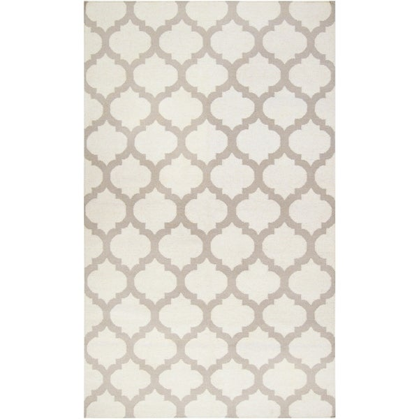 Hand Woven Carvin Flatweave Wool Area Rug - 6' x 9'