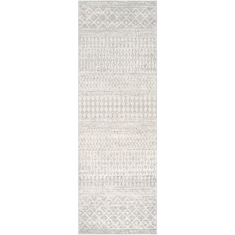 The Curated Nomad Fulton Grey Bohemian Runner Rug - 2'7 x 10'