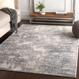 "Willamar Grey Modern Abstract Area Rug - 9'3"" x 12'3"""