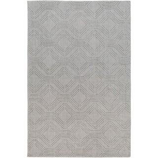 Hand Loomed Oaks Wool Area Rug - 6' x 9'
