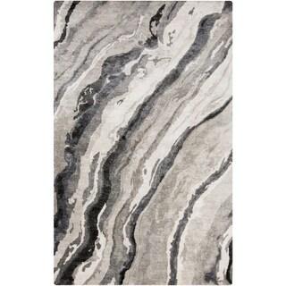 Hand-Tufted Hagar Abstract Banana Silk Area Rug - 6' x 9'