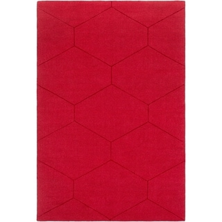 "Handmade Hironia Wool Area Rug - 5' x 7'6"""