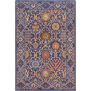 Paarth Traditional Oriental Wool Area Rug - 5' x 7'6""