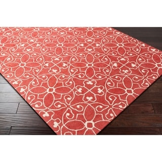 """Hand-Hooked Caselli Wool Area Rug - 5' x 7'6"""""""