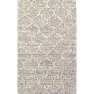 Hand Loomed Arvin Casual Solid Tone-On-Tone Moroccan Trellis Wool Area Rugs - 6' x 9'